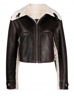 MM6 brown calfskin jacket for women -FW21