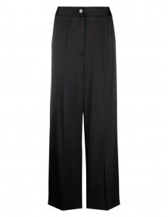Black satin trousers MM6 for women - FW21