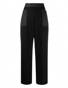 Ambush black bi-material pants for women - FW21