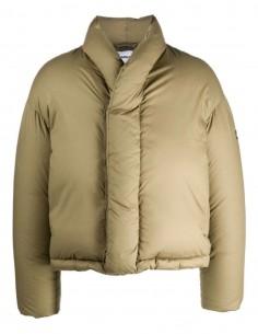Short oversized khaki Ambush puffer jacket for women - FW21