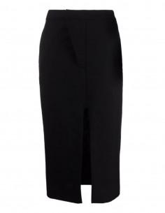 Ambush black midi skirt with an opening for women - FW21