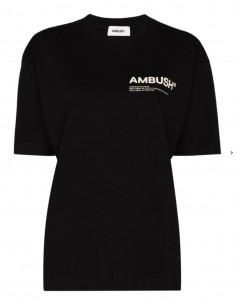 T-shirt noir avec logo poitrine Ambush pour femme - FW21