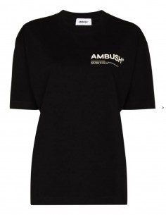 Ambush black t-shirt with logo on the chest for women - FW21