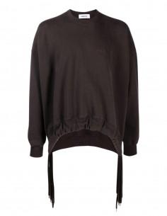 Ambush brown multi-cord sweatshirt for women - FW21