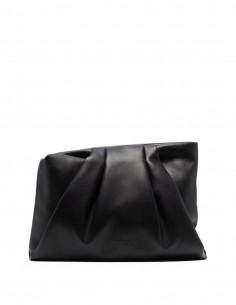 "Ambush black ""Wrap"" pouch in leather for women - FW21"