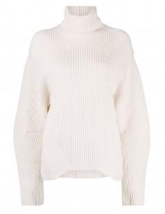 Ambush ecru turtleneck sweater for women - FW21