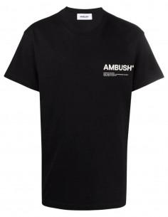 T-shirt noir logo poitrine Ambush pour homme - FW21
