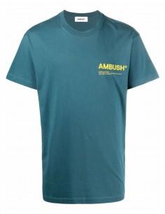 T-shirt bleu logo poitrine Ambush pour homme - FW21