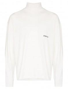 T-shirt blanc à col roulé Ambush pour homme - FW21
