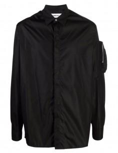 Chemise noire à patch logo Ambush pour homme - FW21