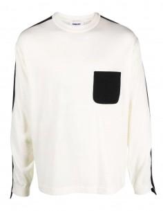 Ambush ecru sweater with contrasting pocket for men - FW21