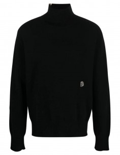 Pull noir à zip épaule Ambush pour homme - FW21
