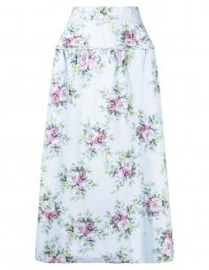 Jupe trapèze imprimé à fleurs Ganni pour femme - FW21