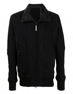 Isaac Sellam black zip-up jacket with high collar for men - FW21