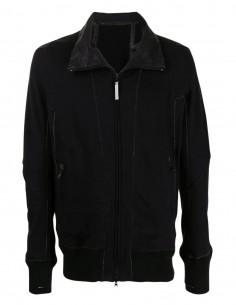 Veste zippée noire à col montant Isaac Sellam pour homme - FW21