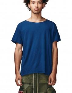 Plain blue Greg Lauren t-shirt for men - FW21