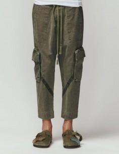 "Greg Lauren ""Army"" khaki cargo pants for men - FW21"