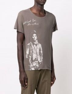 Khaki Greg Lauren print t-shirt for men - FW21