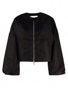 Ganni short black bomber jacket for women - FW21