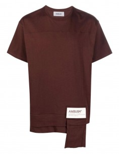 Ambush brown t-shirt with white logo for men - FW21
