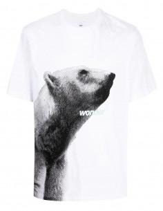 OAMC white bear print t-shirt for men - FW21
