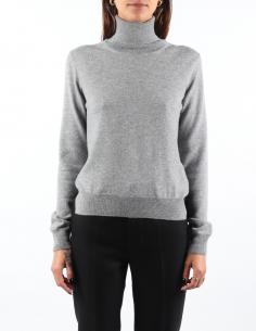 MM6 grey turtleneck sweater for women - FW21