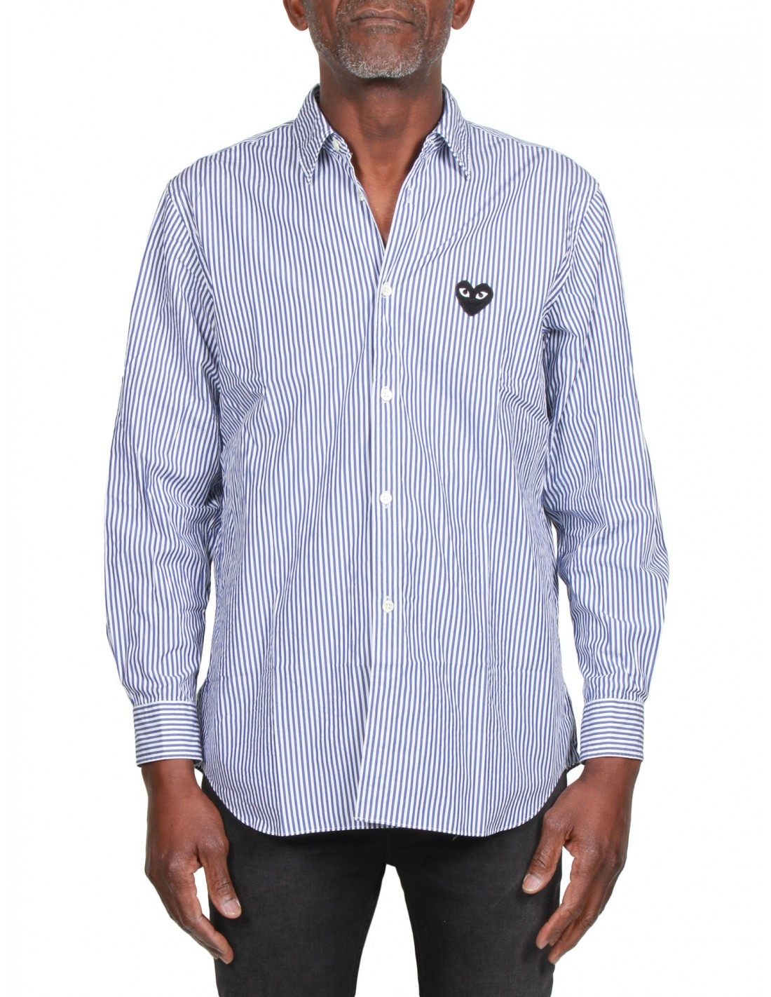 5d1350d87a4c ... t shirts  comme des garÇons play pinstripe shirt with embroidered heart  comme ...