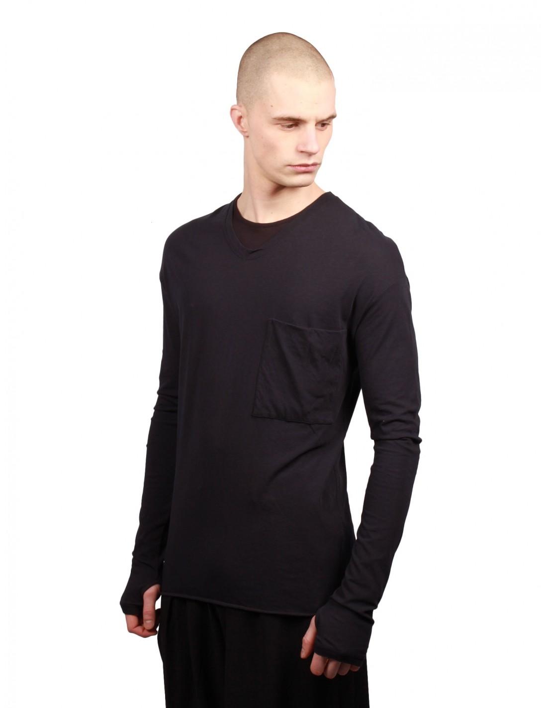 1c6c720e57c58 Long Sleeves Tee Shirt - Navy Isabel Benenato for Man - serie     NOIRE