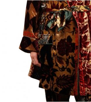 Kimono-and-pant ensembles by Pierre-Louis Mascia